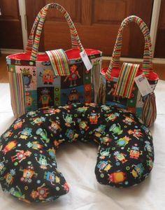 Handmade Robots Diaper Bag ~Too Cute~