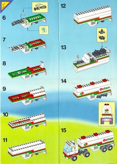 LEGO 6594 Octan Gas Tanker instructions displayed page by page to help you build this amazing LEGO Town set