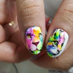 Owl Nail Art, Unicorn Nail Art, Animal Nail Art, Lion Nails, Owl Nails, Owl Nail Designs, Marble Nail Designs, Disney Inspired Nails, Disney Nails