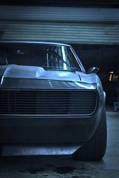 flat black 1967 chevy camaro