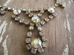 Antique Rhinestone Necklace by mimiyaya on Etsy, $35.00
