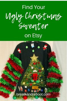 Check out these Ugly Christmas Sweater Ideas on Etsy for your festive Christmas outfits this year. With ideas for men's, women's and couple's Christmas Sweaters, you're sure to find the perfect Christmas Sweater. Source by BreatheandReboot Outfit ideas Matching Ugly Christmas Sweaters, Christmas Sweater With Lights, Homemade Ugly Christmas Sweater, Couples Christmas Sweaters, Couple Christmas, Ugly Christmas Sweater Women, Ugly Sweater, Christmas Outfits, Diy Christmas