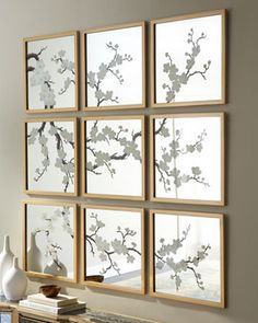 Image detail for -Nine Blossom-Painted Mirrors - traditional - mirrors - - by Horchow