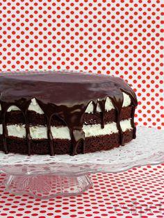 egycsipet: Túrós-csokis torta