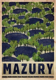 Masuria - Summer, Polish Poster by Ryszard Kaja Art Deco Posters, Love Posters, Polish Posters, Summer Poster, Railway Posters, Retro Illustration, Great Paintings, Art Deco Period, Typography Prints