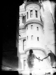 couple in love holding hands water reflection 8.5x11 Original Photographic Print
