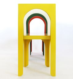 Claudio chair (2012) | Architectura-G | When you view the chair from the back, you can see its front legs as well, an effect that creates a false vanishing point