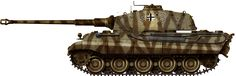 The Tiger II, often referred to as the King Tiger or even Bengal Tiger (Königstiger) was the largest and heaviest operational tank fielded by the German Army in Tiger Ii, Army Vehicles, Armored Vehicles, Best Armor, Self Propelled Artillery, Military Drawings, Tank Armor, Armoured Personnel Carrier, Camouflage Colors