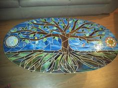 mosaic table tree of life