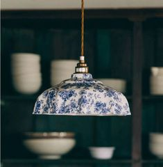 Campbell Blue Imari Pendant Light by Lyngard Ceramics, the perfect gift for Explore more unique gifts in our curated marketplace. Ceiling Rose, Ceiling Lights, Room Lights, Chandeliers, Design Light, Ceramic Pendant, Ceramic Light, Studio Interior, Interior Design