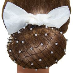 Snoods, without the bow. Maybe with pretty pearl comb