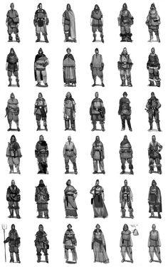 Concept art for viking civilans for the game Viking battle for Asgard