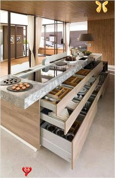 bebifunow 13 Beautiful Pictures of Kitchen Islands ideas on a Budget -  Interior design ideas for a luxury kitchen decor. On this kitchen, you can see extraordinary furnit - #beautiful #budget #DecoratingKitchen #HouseDesign #ideas #islands #kitchen #pictures #SmallRoomDesign<br> Kitchen Island Ideas On A Budget, Pictures Of Kitchen Islands, Modern Kitchen Island, Kitchen Island With Seating, Kitchen Pictures, Kitchen Ideas, Kitchen Inspiration, Eclectic Kitchen, Kitchen Colors