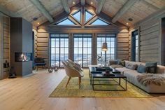 Hafjell - Stor hytte med høy standard under oppføring Chalet Interior, Interior Exterior, Interior Design, Lofts, Winter Cabin, Cabin Interiors, Tiny House Living, Cabin Homes, My Dream Home