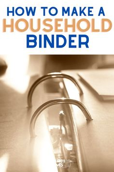 Looking for a good way to organize and store all of the information you need to run your home? Make your own household binder and keep all of your home management information in one place.