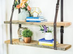 DIY Leather Belt Shelf made by Ken Wingard! Don't miss Home & Family weekdays at 10a/9c on Hallmark Channel