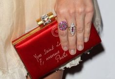 Sealed with a kiss: If actress Sophia Bush looses her tiny, addressed clutch, we know where it'll land at YSL's Paris abode!