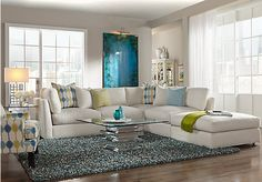 picture of Cindy Crawford Home Crosby Street White Left 3 Pc Sectional  from Living Room Sets Furniture