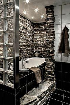 Gorgeous Brick Shower Wall Tile Designs Vintage Bathroom - Page 18 of 22 Design Hotel, Bathroom Furniture, Furniture Decor, Douche Design, Wall Tiles Design, Vintage Bathrooms, Modern Bathroom, Narrow Bathroom, Bathroom Ideas