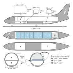 Boeing B737-300F freighter diagram (ACS http://www.aircharterservice.com/)