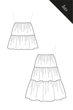 Jupe à étages – AtelierCharlotteAuzou Creation Couture, Charlotte, Cocktail, Clothes, Patron Couture Facile, Top Pattern, Sleeve Pattern, Unique Dresses, Paper Pieced Patterns