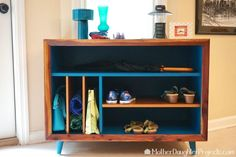 A blogger updates a broken cabinet for her entryway—look at how amazing it is now!