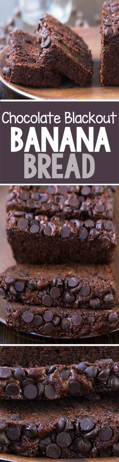 """#ad #bakehappy Dark Chocolate """"Blackout"""" Banana Bread that is darker and richer than ever, thanks to HERSHEY'S Special Dark Cocoa"""