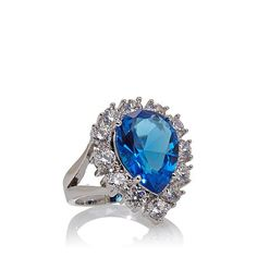 Audrey Hepburn™ Collection Blue Pear-Shaped Ring