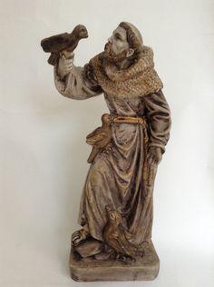 São Francisco de Assis Religious Art, Saints, Statue, Plaster Art, Angels, Diy And Crafts, Holy Spirit, Cement, Baroque