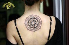 My tattoo :) Wheel of Dharma at rasalila.pl
