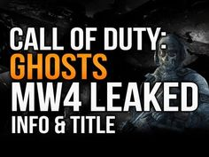 RUMOR: Next COD to Be Titled Call of Duty: Ghosts - http://leviathyn.com/games/news/2013/03/22/rumor-next-cod-to-be-titled-call-of-duty-ghosts/