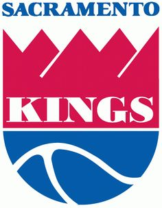 Sacramento Kings Primary Logo (1986) - Red and blue shield with Kings in white with Sacramento in blue above