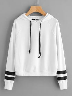 Shop Striped Raglan Sleeve Hoodie online. SheIn offers Striped Raglan Sleeve Hoodie & more to fit your fashionable needs.