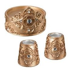 This decorative unity candle holder set is sure to add a touch of glamour to your unity candle ceremony. Rose Gold Candle Holder, Unity Candle Holder, Large Candle Holders, Candle Holder Decor, Rose Candle, Gold Candles, Luxury Candles, Engagement Gifts For Her, Lillian Rose
