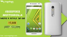 #BoxOpened #Motorola Moto X Style (3 GB RAM, 32 GB) is now available at #Togofogo. Get it now at just Rs.7,449 (MRP: Rs.34,999) - https://bit.ly/2M83Aol  Hurry! Limited Time Offer.