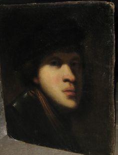 dark version Rembrandt Self Portrait, Rembrandt Paintings, Oil On Canvas, Mona Lisa, Old Things, Dark, Artwork, Work Of Art, Auguste Rodin Artwork