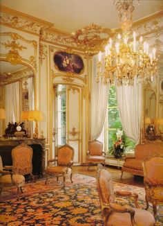 The Summer Room of the Hôtel de Seignelay at 80 rue de Lille, which was decorated in 1757 by Mouret.