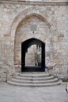 Israel. Entrance to the Room of The Last Supper in Jerusalem.  #shlomosixt #sixtisrael #boazyacobi