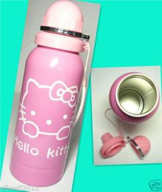 Hello Kitty Stainless steel Sport Travel Water Bottle PINK