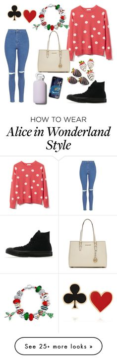"""""""Christmas shopping"""" by jackhemmingsduh on Polyvore featuring Equipment, MICHAEL Michael Kors, bkr, Bling Jewelry, Topshop, Alison Lou and Converse"""