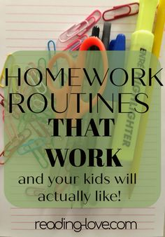 I have developed homework routines that work! This post gives step-by-step directions, suggestions, and checklists for homework success without any stress. Good Parenting, Parenting Hacks, Kids Homework, School Planner, Independent Reading, Special Kids, All Family, Children's Literature, School Supplies