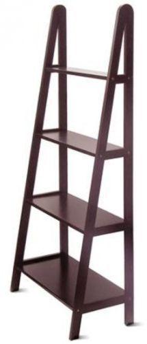 Office Furniture Bookcase Open 4-Shelf Book Case Espresso Storage Home Decor NEW