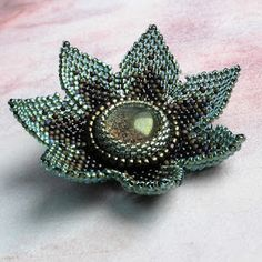 Embroidered Flower Bead