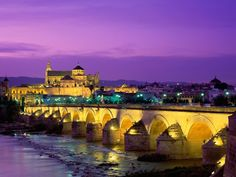 The Roman bridge of Córdoba is a bridge in Córdoba, Andalusia, southern Spain, built in the early 1st century BC across the Guadalquivir river.  The bridge was built by the Romans in the early 1st century BC, perhaps replacing a previous one in wood. It currently has 16 arcades, one less than original ones, and a total length of 247 meters. The width is around 9 meters. The Via Augusta, which connected Rome to Cádiz, most likely passed through it. During the Islamic domination, in the Middle