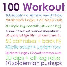 100 strength workout.