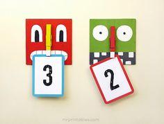 Monstruos porta notas / Monsters hanger  Porta notas o porta otra cosa :)    Para hacer con madera o con cartón y pintar a gusto del autor. Las instrucciones completas están en este enlace (ir a la web)