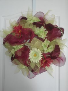 Spring /Summer wreath made by Bonnie Pacific