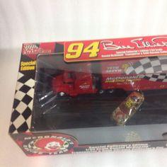 McDonalds Racing Team NASCAR Bill Elliott Stock Car & Transporter Truck Die Cast #RacingChampions #Ford