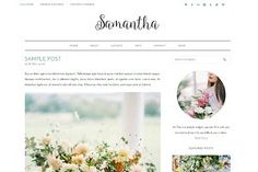 SAMANTHA - a beautiful and lovely Wordpress Theme. Lifestyle, Food, Travel, Florist and Fashion Blog. Feminine design. #Ad