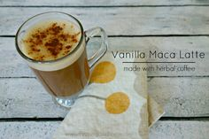 Vanilla Maca Latte :: Dairy-Free and Caffeine-Free // deliciousobsessions.com